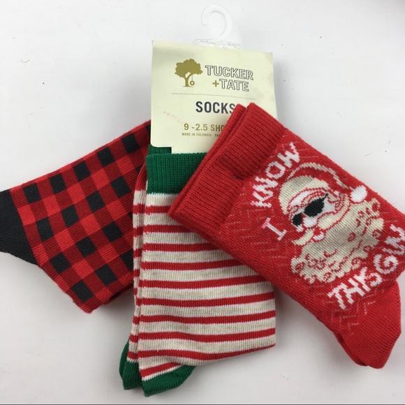 Boys Christmas Socks.3 Pair Boys Christmas Socks Shoe 9 2 5 Cute Santa Nwt